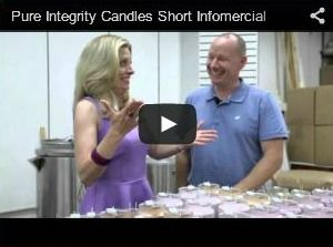 Pure Integrity Candles debut on television with co-owner Jeffrey Schumacher. Our very first commercial! http://www.pureintegrity.com/pi-candles-video.html