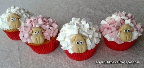Butik Pasta Kurabiye Makaron: Koyun Cupcake