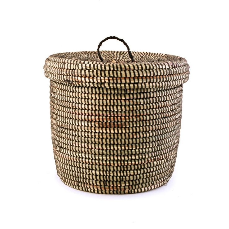 I love using baskets to store stuff around the house
