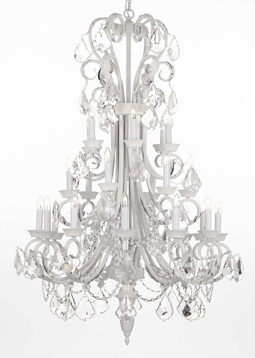 Wrought iron chandelier 50 inches tall with crystal trimmed with wrought iron chandelier 50 inches tall with crystal trimmed with spectra t j10 b12white2601524sw arubaitofo Choice Image