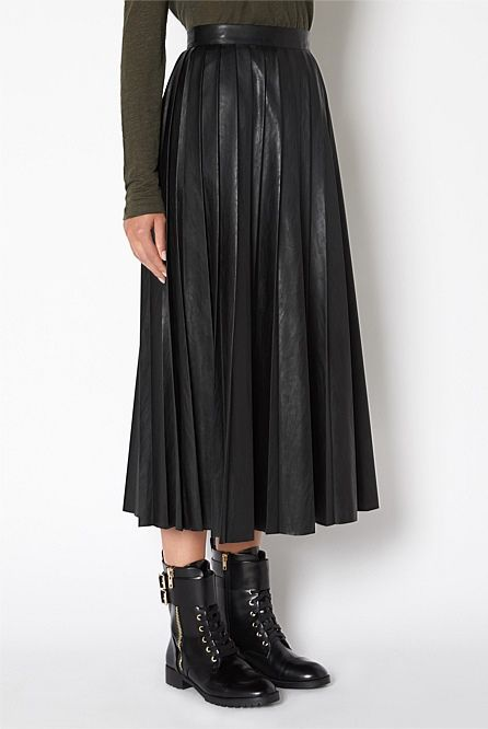 69f3f33ab Witchery Soft Pleat Midi Skirt | Threads | Pleated midi skirt ...