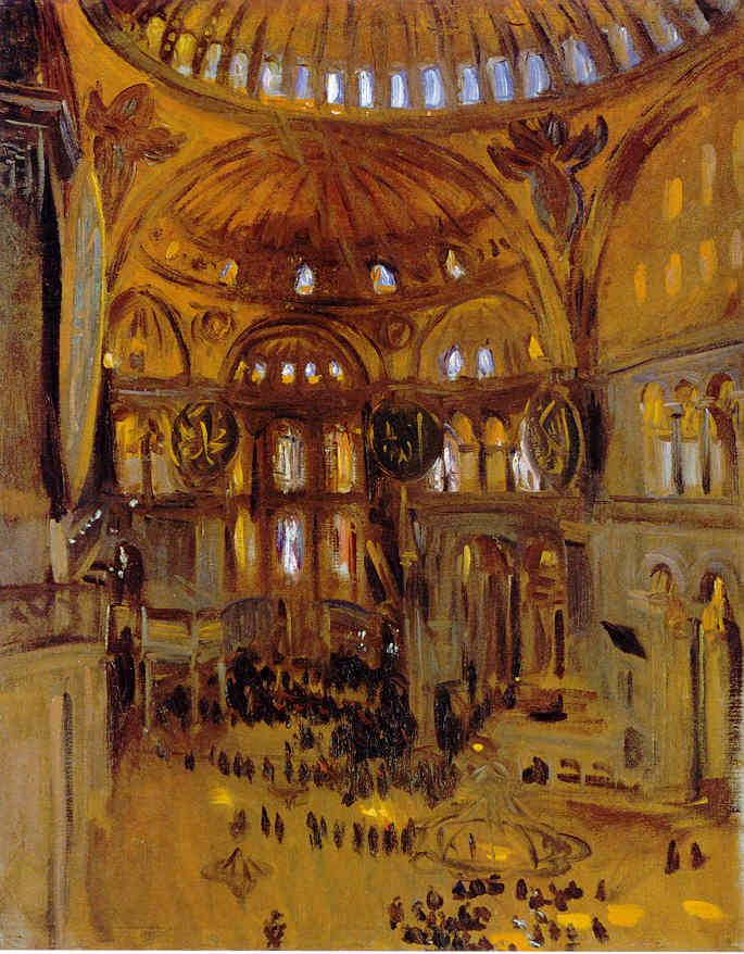 John Singer Sargent's Sketch of Santa Sofia jssgallery.org685 × 878Buscar por imagen View of the Interior of Santa Sophia, Istanbul 1891 GASPARD FOSSATI - Buscar con Google