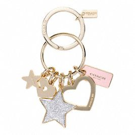 STARS AND HEART KEY RING