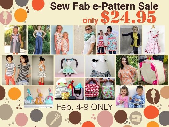 For 1 Week Only! The Sew Fab e-Pattern Sale!!!! (Plus a Giveaway ...