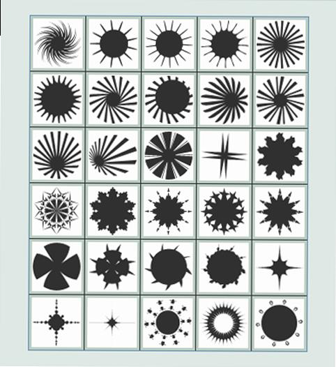 تحميل أشكال نجوم ودوائر للفوتوشوب Circles Stars Shapes Shapes Circle