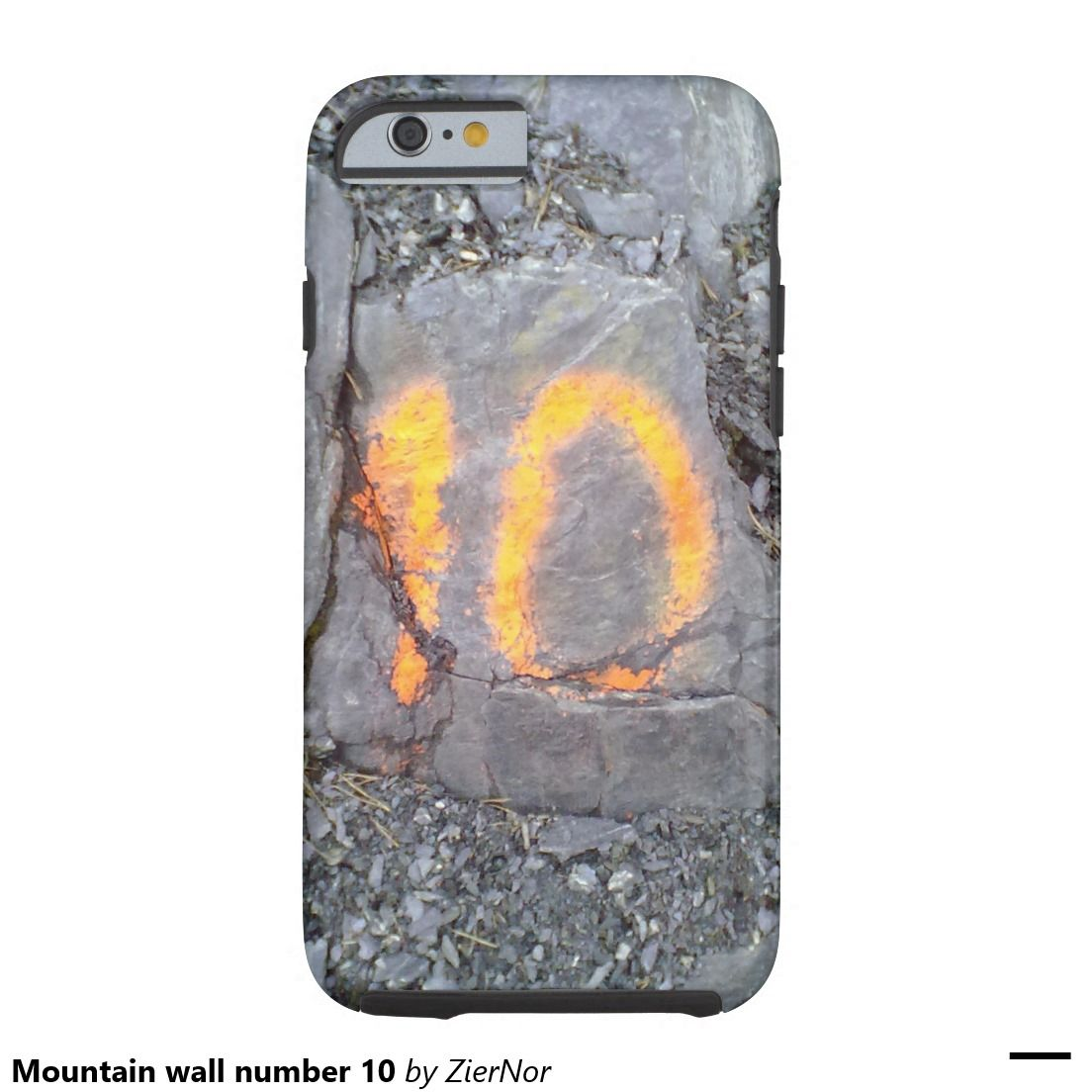 Mountain wall number 10 tough iPhone 6 case