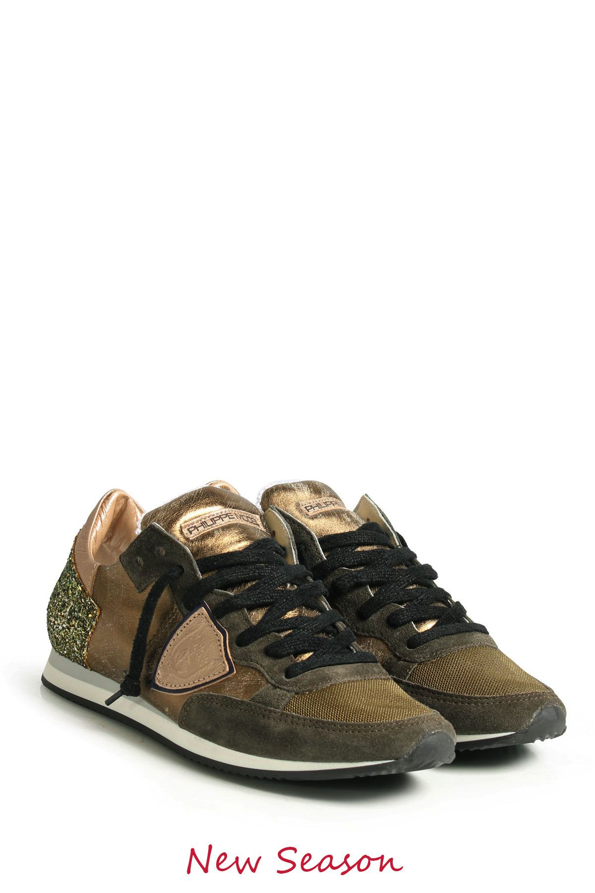 05323391695c9 PHILIPPE MODEL Sneaker TROPEZ TRLD METALLIC KHAKI bei myClassico ...