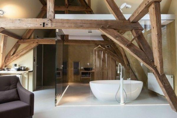 ausgefallenes badezimmer holz glas badewanne rund design | Home ... | {Badezimmer design holz 35}