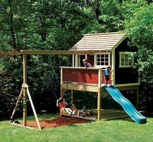 Diy Backyard Fort Playhouse Cool For The Kids Backyard Play Backyard Playhouse Play Houses