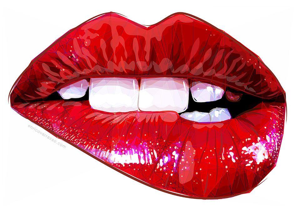 Red Lips On Behance Pop Art Lips Lips Illustration Pop Art