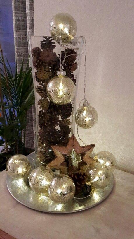 glasvase weihnachtlich dekoriert das sch nste pinterest weihnachten weihnachtlich. Black Bedroom Furniture Sets. Home Design Ideas