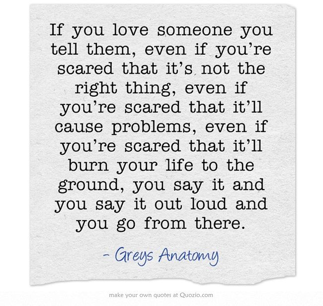 Mark Sloan From Greys Anatomy If You Love Someone You Tell Them