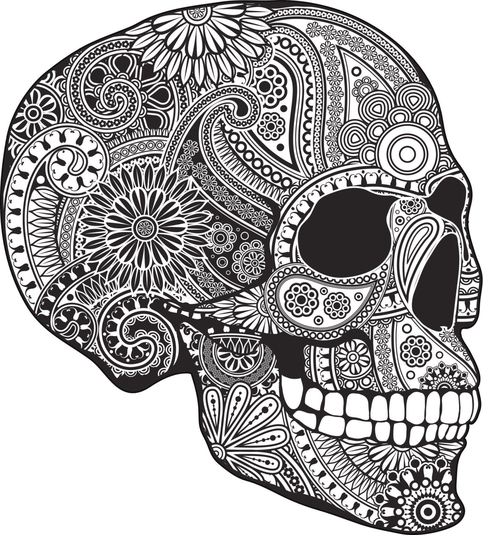Sugar Skull Bleached Bones - Copyrighted Mixed Media - Sugar Skull ...