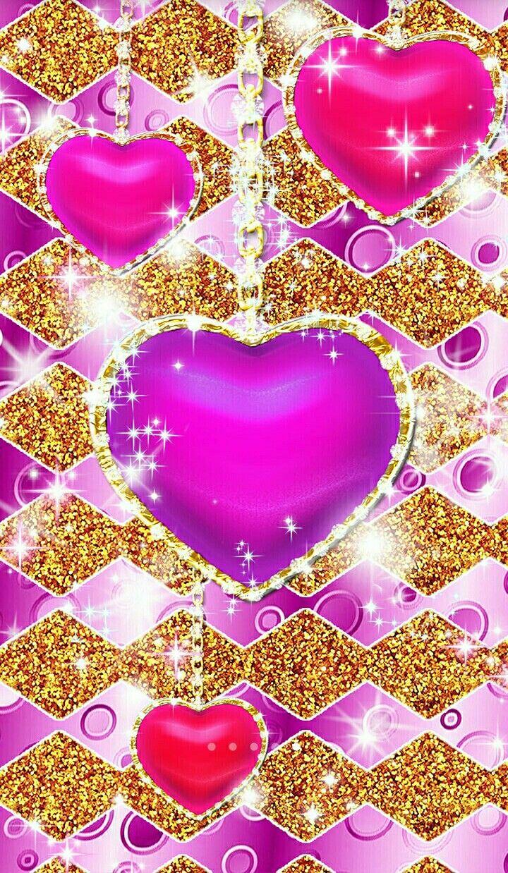 Hearts Wallpapers Glitter Iphone Samsung Galaxy Lg Huawei P8 Lite Huawei Gplay Mini Heart Wallpaper Pink Wallpaper Heart Bling Wallpaper
