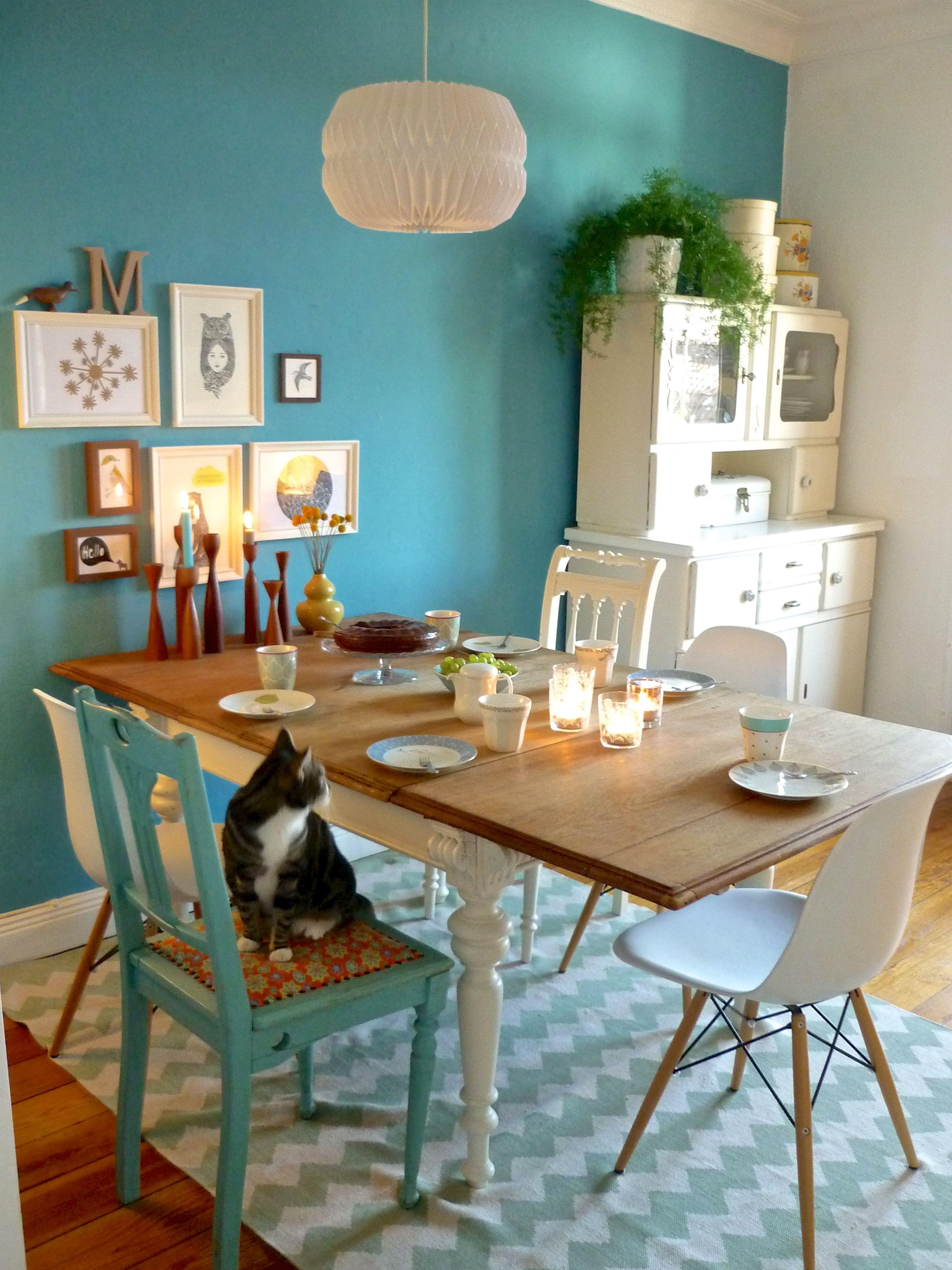 warten auf unsere g ste relaxed wohnung pinterest wohnen esszimmer und haus. Black Bedroom Furniture Sets. Home Design Ideas