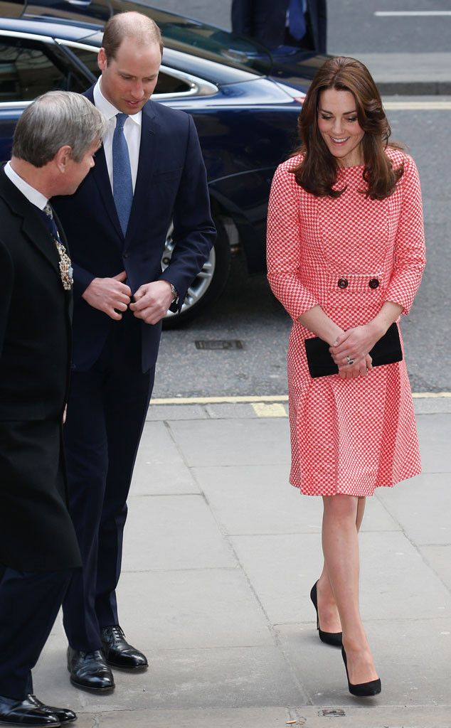 Kate Middleton Looks Lovely in Red & White at Youth Charity Visit With Prince William  Kate Middleton, Prince William