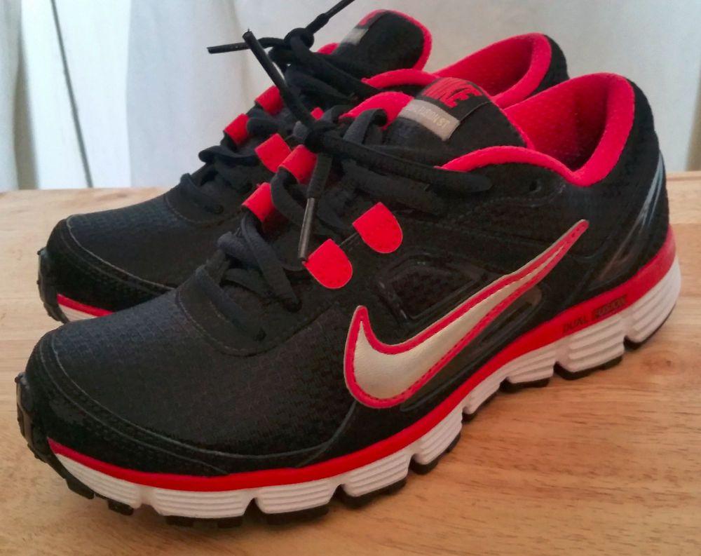 f3aed7e29fe Women s Nike Dual Fusion Run St Style 407847-001 Size 6.5 Black pink  Nike   RunningCrossTraining