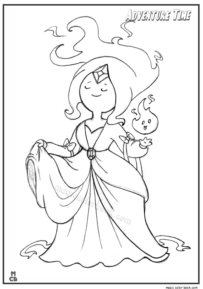 Adventure Time Color Pages Princess Flame | Adventure time ...