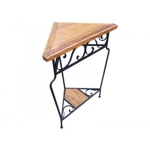 Cantoneira de madeira com ferro- 433 #arte #moveis #rusticos - www.artemoveisrusticos.com.br