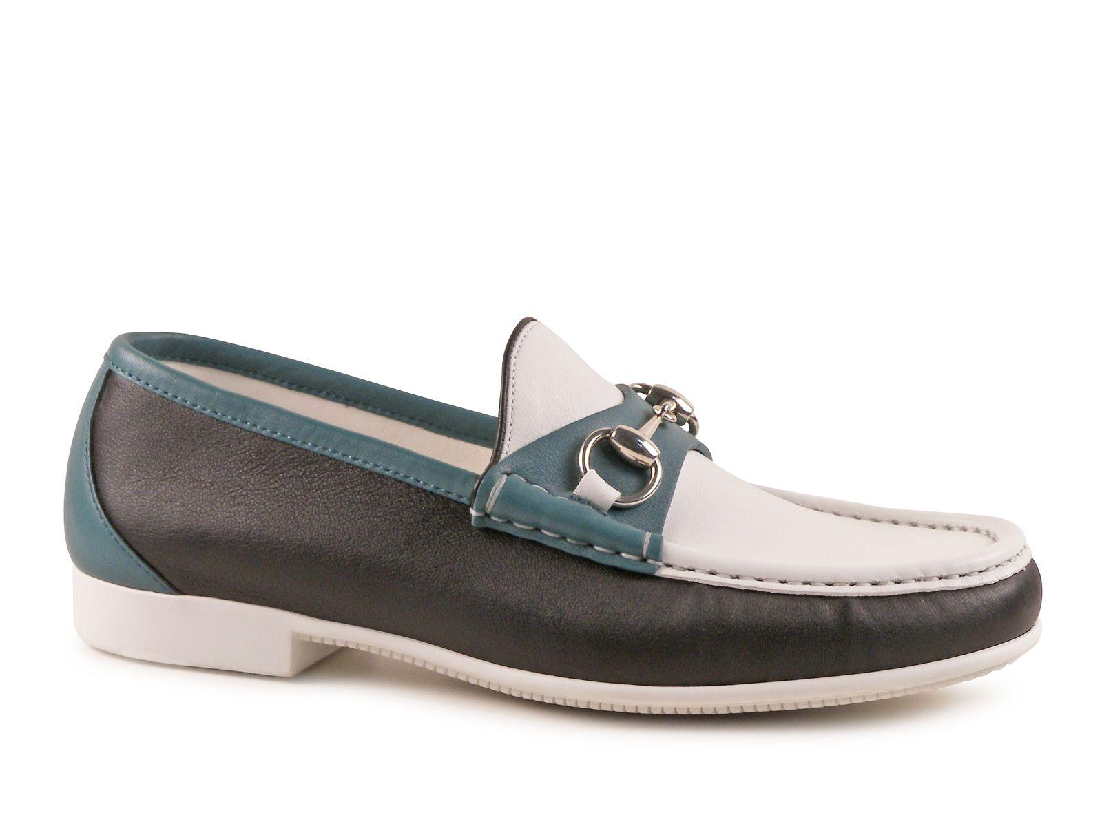 Green Leather Italian Designer Men Shoes