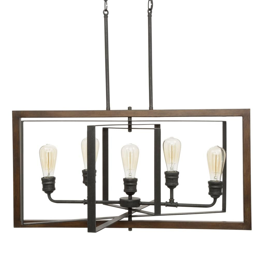 Home Decorators Collection Palermo Grove 31 88 In 5 Light