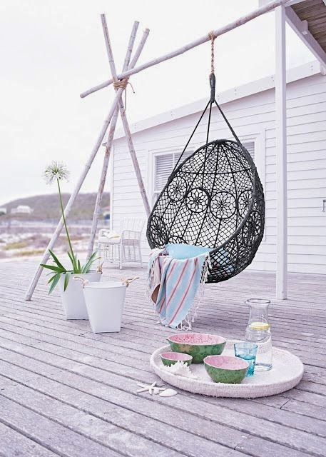 For my home id es d co 8 for my home pinterest fauteuil suspendu deco et maison - Siege suspendu salon ...