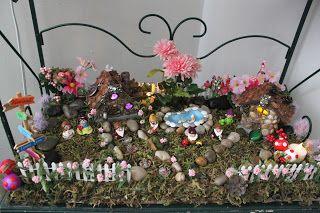 Donna's fairy garden using Wee Brigadoon items