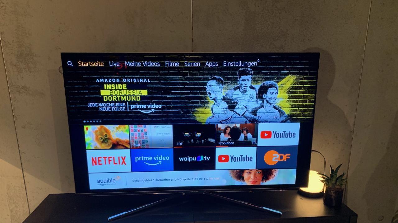 Inklusive Streaming Mit Fire Tv Amazon Zeigt Fernseher Und Soundbar Fernseher Netflix Und Apple Oder Samsung