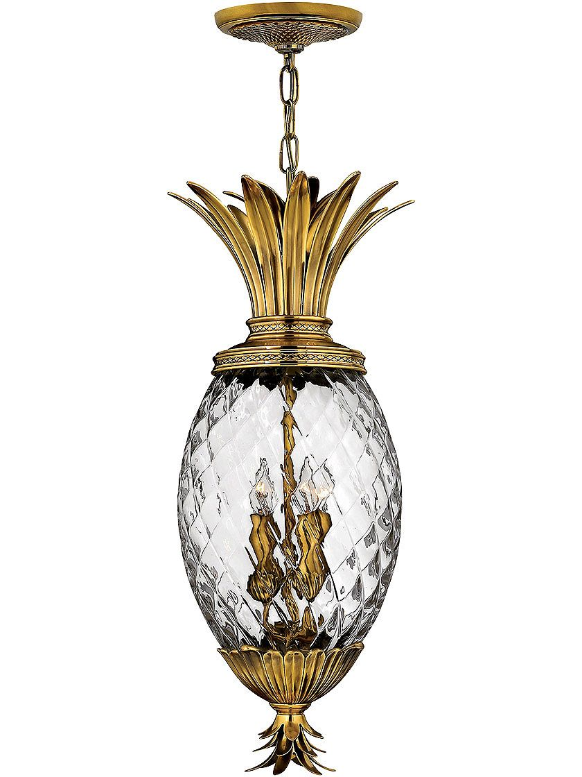 Plantation pineapple pendant with clear optic glass proj 12 007