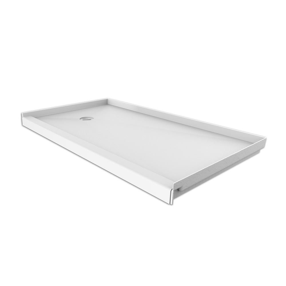 Flexstone 30 In X 60 In Single Threshold Shower Base With Left