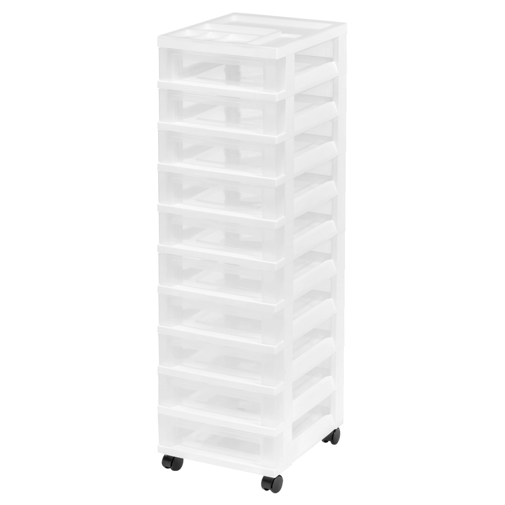 Iris 10drawer Plastic Storage Rolling Cart Rolling Storage Cart Plastic Storage Drawers Storage Drawers