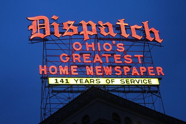 Columbus Dispatch Neon Columbus Dispatch Columbus Neon Signs