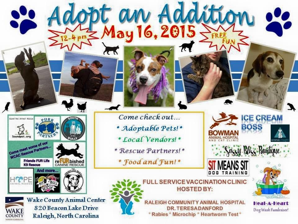 This Is Another Awesome Event Happening Tomorrow May 16th 12 00 Pm 4 00 Pm We Are Thrilled To Support This Amazing Ca Animal Hospital Wake County Animals