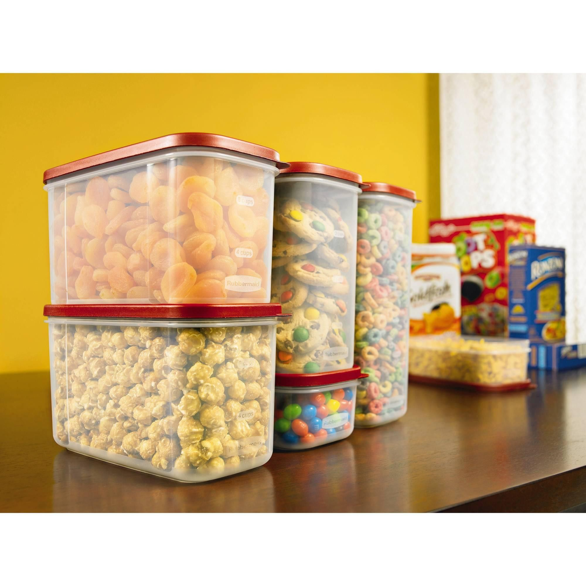 8 Piece Modular Canister Food Storage Stackable Set With Airtight