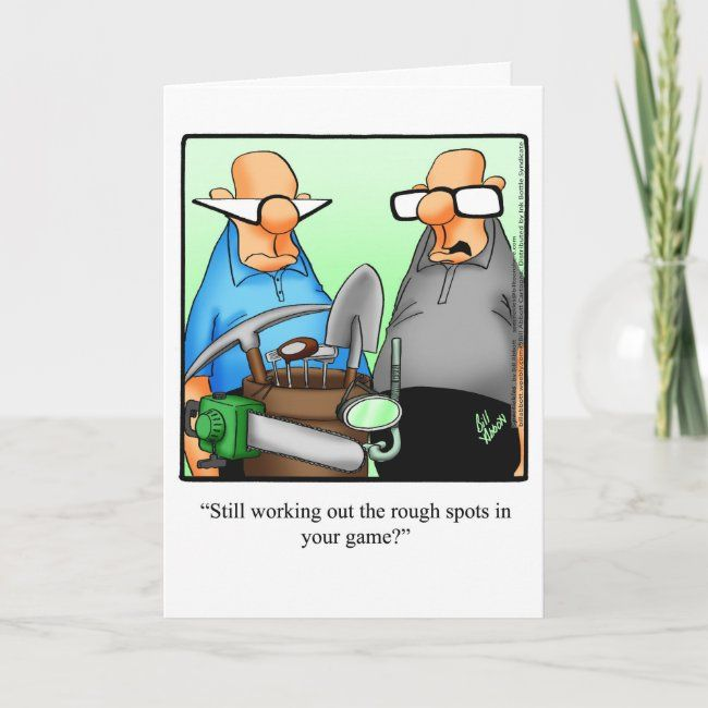 Golf Humor Birthday Greeting Card | Zazzle.com
