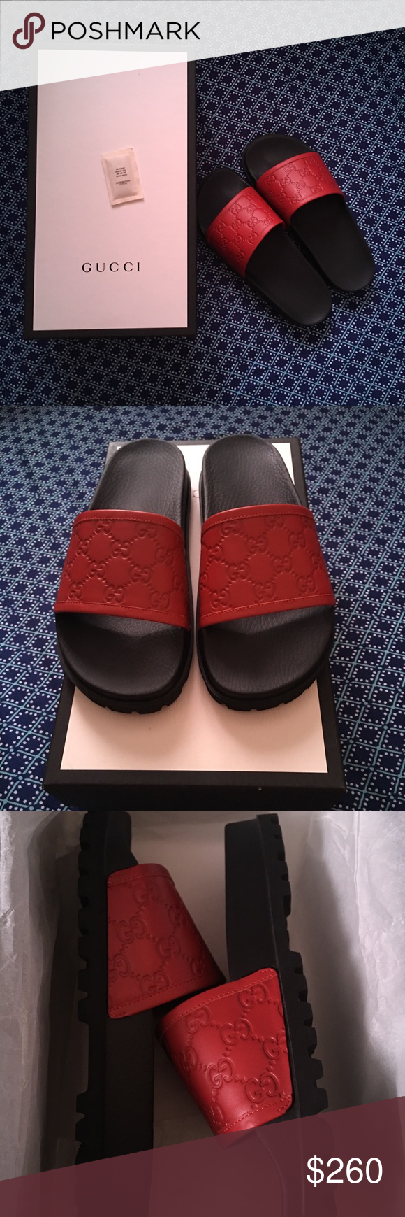 a230b4bc992a Gucci Signature Slides Sandals Never Used! Got the wrong size. Style 431070  CWD20