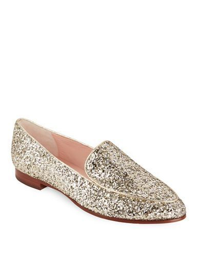 b70fa08d15c7 Kate Spade New York Calliope Glitter Loafers Women s Gold 7