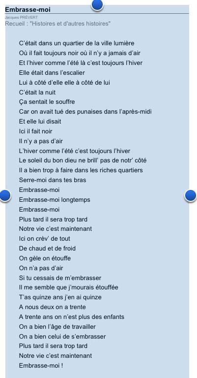 Embrasse Moi Prevert Prevert Jacques Poeme Et Citation