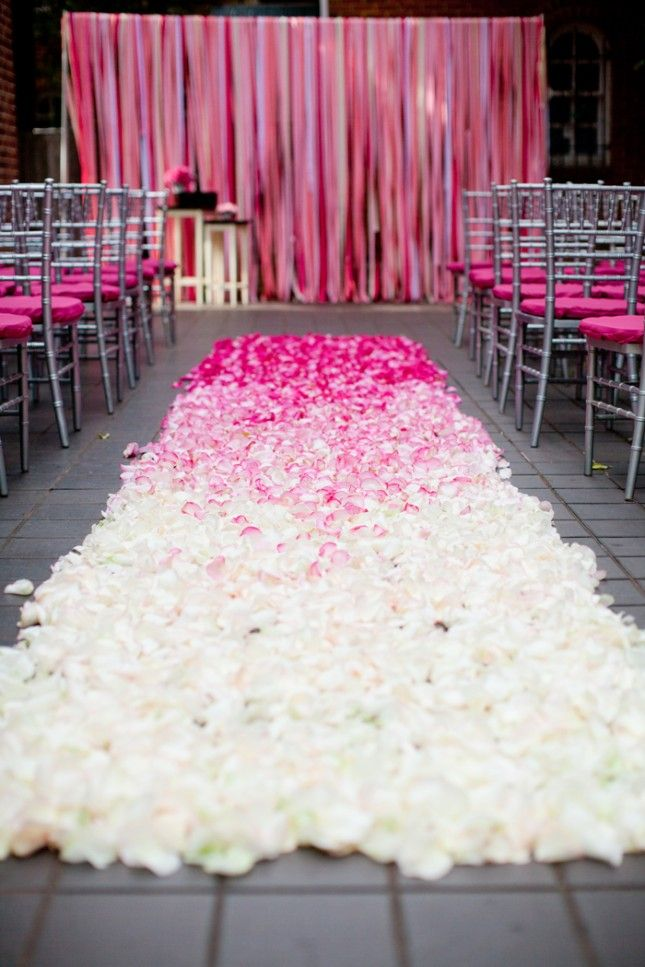 Flower Petals For Wedding | Line Your Wedding Aisle With Ombre Flower Petals Wedding From