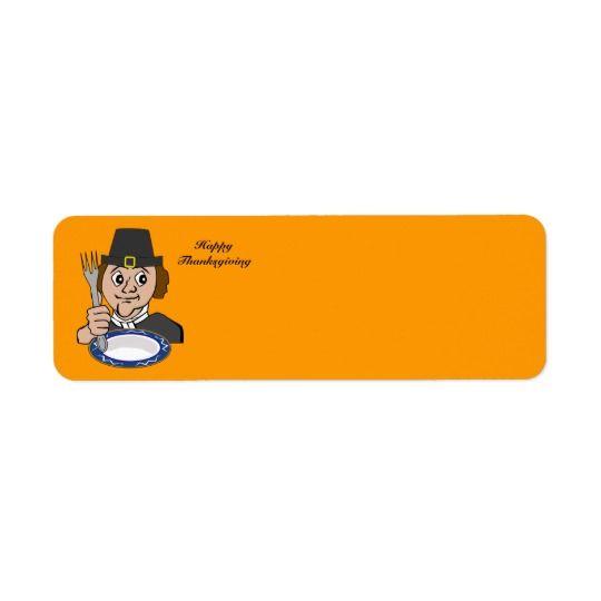 Animated Pilgrim Label