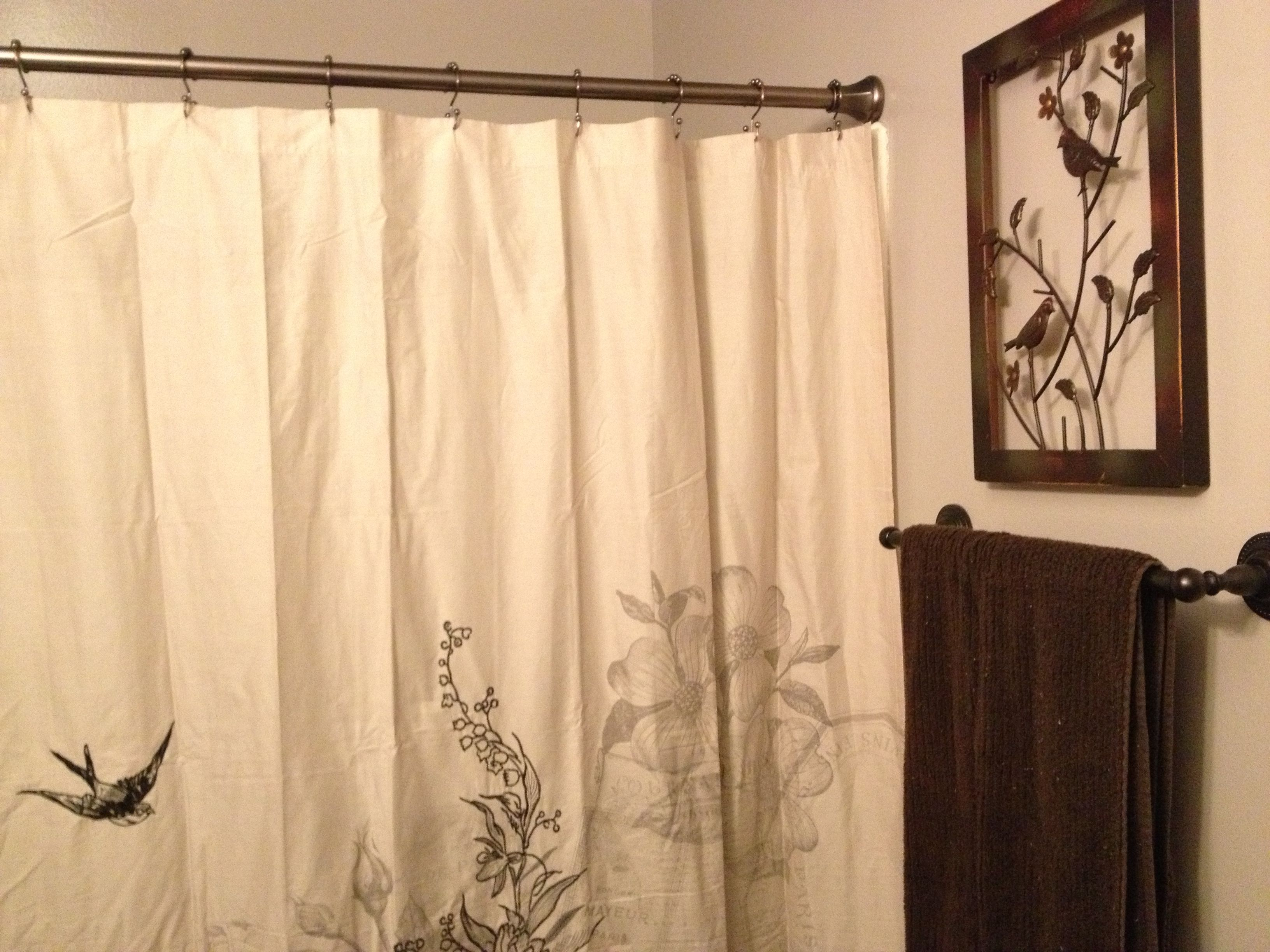 Romantic Bathroom Curtain