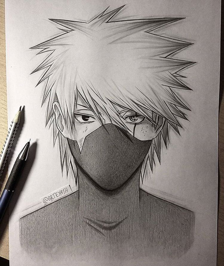 Hatake Kakashi Kakashihatake With Images Naruto Sketch Anime