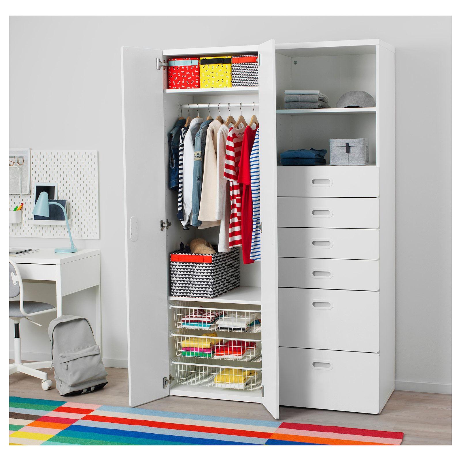 Stuva Fritids Armoire Blanc Blanc 120x50x192 Cm Armoire Penderie Stockage Ikea Et Placard Chambre Enfant