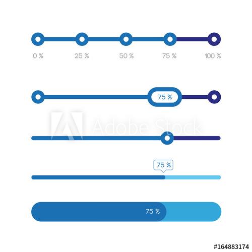 Percent Progress Bar Set Acheter Ce Vecteur Libre De Droit Et Decouvrir Des Vecteurs Similaires Sur Adobe Stock Barre De Progression Vecteur Bar