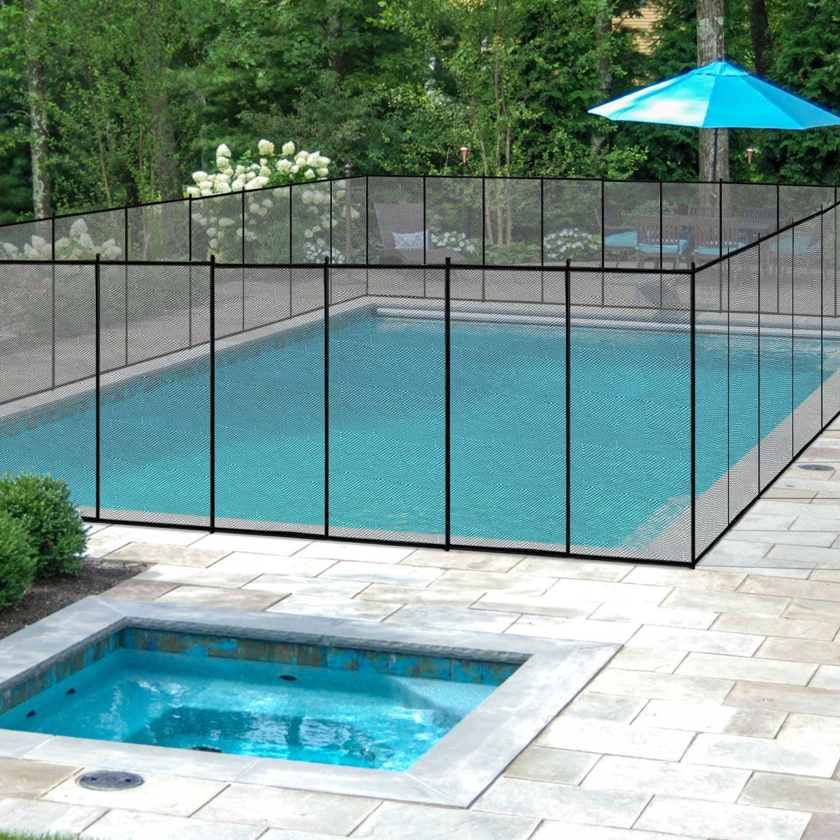 Giantex 4x48 inground swimming pool fence child barrier