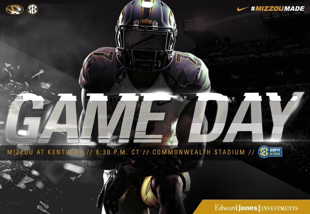 It's Mizzou Game Day! Watch on SEC Network at 630pm CT