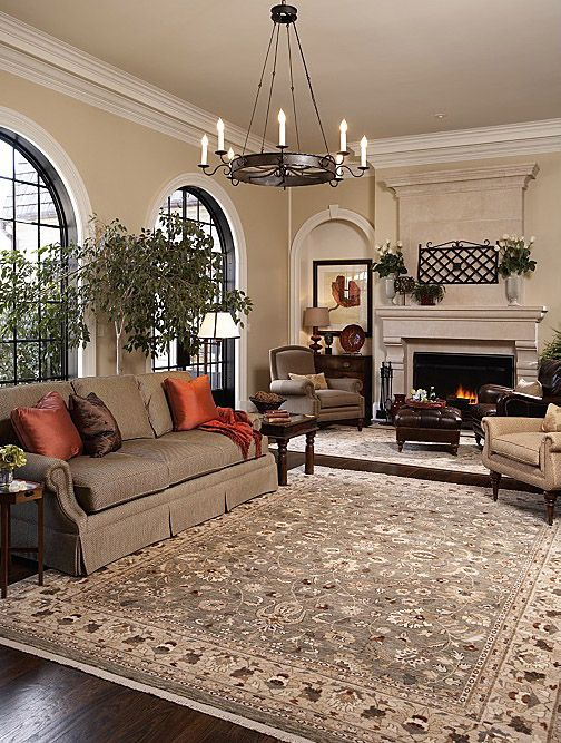 living room area rug color--shows the truer color in this room