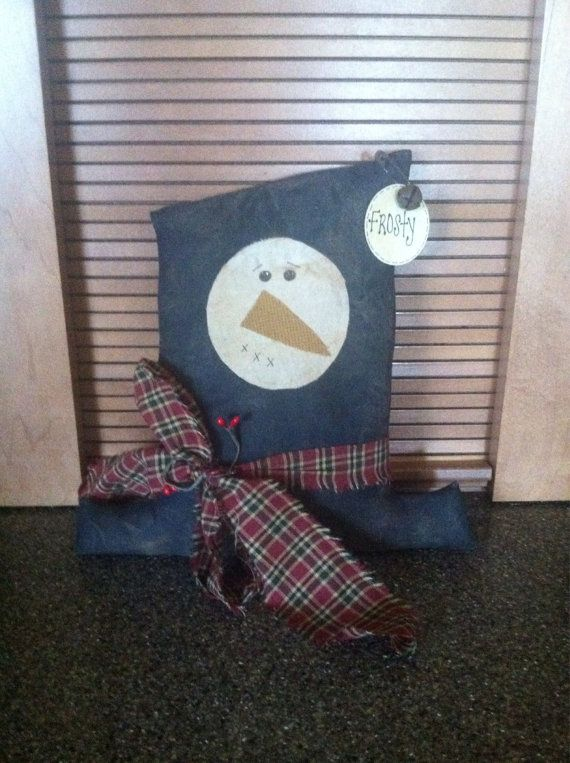 Primitive grungy snowman hat by CraftsbyNa on Etsy
