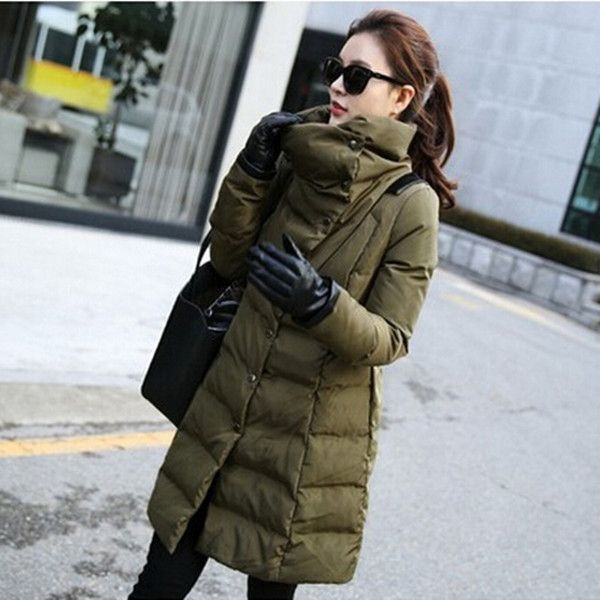 9472696b434 Women s long down jacket military green winter women parka 2016 new arrival padded  down coat warm ladies plus size coats Q363 alishoppbrasil