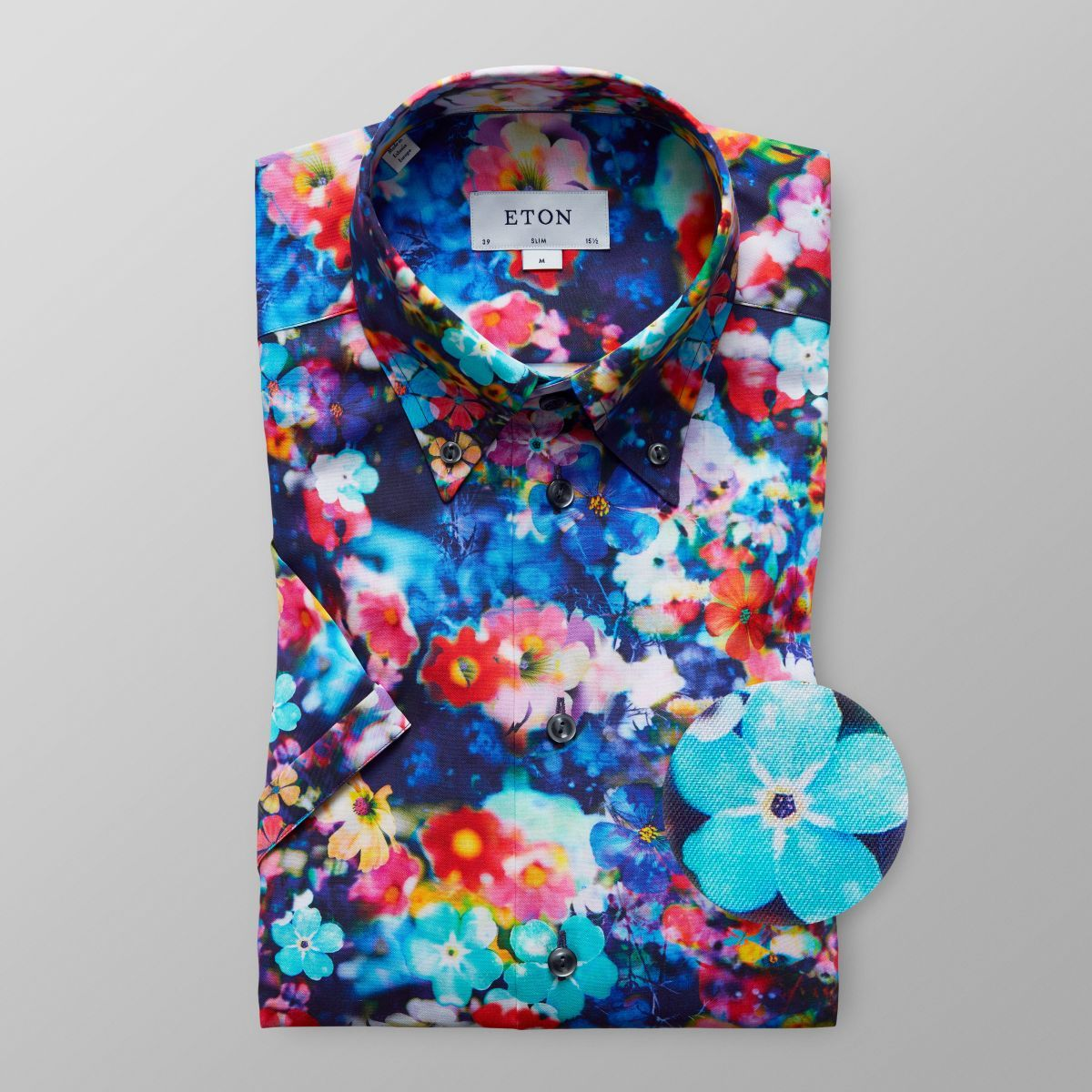 Flerfärgad blommig skjorta - Slim fit  c098e910fb0be